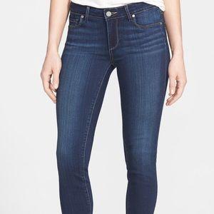 PAIGE 'Skyline' Skinny Denim Jeans Dark Blue 29